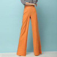 New 2014 Elegant Plus Size 4XL Wide Leg  Casual  Pants Bell-bottom Korean Style Womens Clothes  Brown  Trousers