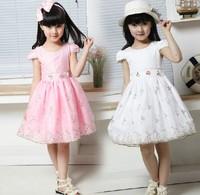 Hot sale! 2014 New Fashion Korean Children Girls Lace Dress Kids summer dresses
