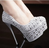 HOT fashion ultra platform 15cm high heels shoes for women,rhinestone wedding party women pumps