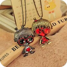 accessories fashion vintage big gem love necklace female B0132
