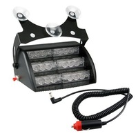 Free Shipping White 18 LED Strobe Police Emergency Flashing Warning Light for Car