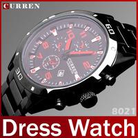 2014 Fashion Brand Steel Band Men Full Steel Watch Clock Quartz Watch For Man Dress Watch Calendar Work Wristwatch Waterproof