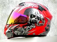 EMS Free Shipping Masei 815 Modular Motorcycle Helmet Skull Icon Racing Motorcycle Helmet M L XL XXL Red