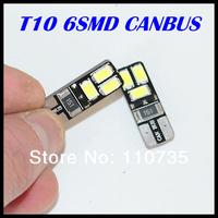 2014 NEWS !! Free shipping 10PCS/lot Car Auto LED T10 194 W5W Canbus 6 smd 5630 5730 LED Light Bulb No error led light