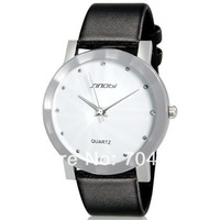 Sinobi 981  Round Dial Analog Quartz Watch with Faux Leather Strap women dress watch-10 pieces / lot