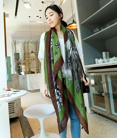 New fashion 2014 spring&autumn women scarf infinity angell pattern print pashmina scarf high quality designer brand #e949(China (Mainland))