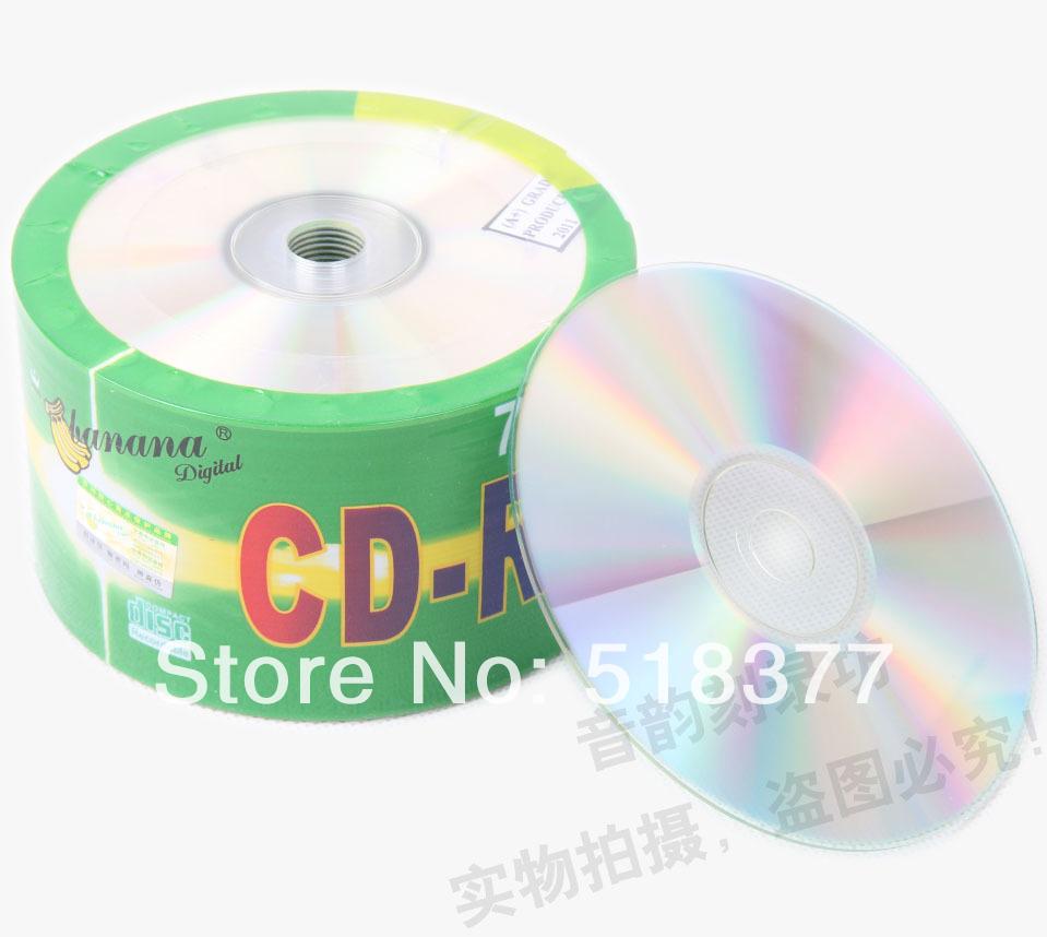 Wholesale Scale-Free A Cd-R Discs Cd 50pcs Blank Cd 52 X Printable Cd 700mb(China (Mainland))
