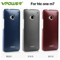 Vpower usual case For htc one m7 case, for htc one hard case,back cover+free screen Protector Free shipping