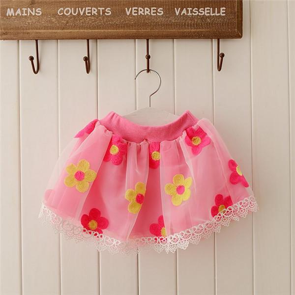 2014 Summer Selling Children Clothing Korean Lace Veil Dance Skirt baby girl love of Pettiskirt gauze skirt(China (Mainland))