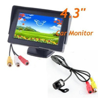 Car Monitor 4.3 inch TFT LCD screen /  Monitor / DVD display / truck / school bus / coach and  car wire rear view camera