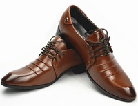Free shipping new 2014 men's flat shoes spring Business shoes Two kinds of design