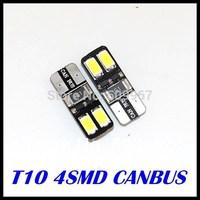 500x T10 Canbus bulb 194 168 W5W 5630 5730 4 LED SMD Car Side Wedge Light Bulb Error Free Auto Car clearance light