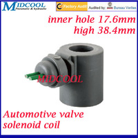 car solenoid valve coil connector Lead type 24V DC inner hole diameter 17.6mm high 38.4mm