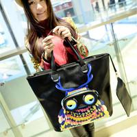 2014 personality owl bags fashion brief fashion big bag trend vintage handbag female shoulder bag  Free shipping