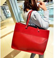 Fashion big bags 2013 women's handbag vintage women's nubuck leather handbag shoulder bag platinum  Free shipping