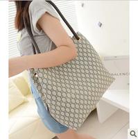 White collar 2014 women's bag fashion vintage fashion female shoulder bag cross-body bucket bag big bags  Free shipping