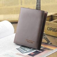 Male 100% Genuine Leather Fashion Short Design Men's Wallets Card Holder Cowhide wallet men Fashion Card Holder gift
