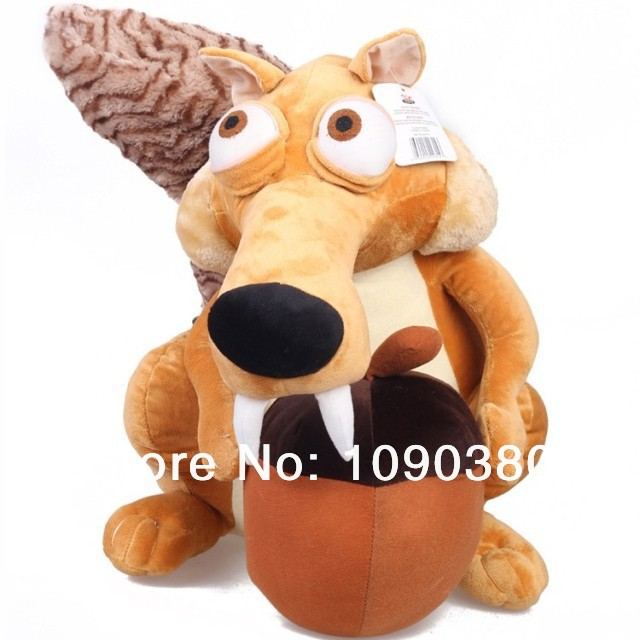 Ice Age 3 Cartoon Figures Squirrel 20CM=8'' Squirrel Pets Plush Girl Toys For Kids Plush Doll Toys For Baby Holidays Gift(China (Mainland))