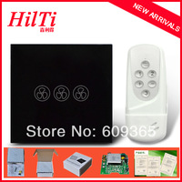 2014NEW EU Standard Fan Switch Remote Control Overload Protect Crystal Tempered Glass Panel AC110-240V blue LED indicator
