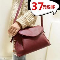 2014 women's fashion handbag fashion messenger bag mini bag tyranids rivet black small bags  Free shipping