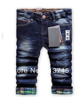 Wholesale (6PCS/LOT )  2013 fashion children 's jeans baby kids jeans girls pants boys girls  trousers free shipping ZR008