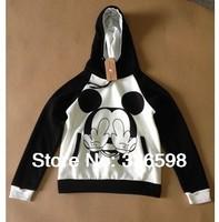 free shipping Sport Suit Women Mickey Mouse Patchwork Hoodies New 2014 spring Fashion Cartoon  Harajuku Sweatshirt