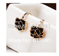 18k plated earring 2014 new ear clips charms rose flower ear cuff fashion earrings women love jewelry LM-C263 free shipping
