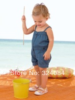 2014 Summer New Arrival Girls Overalls Denim Jumpsuits 5pcs/lot for 80-100cm girls wear
