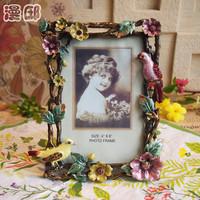 "6""*4"" Fashionable Pastoral Metal Photo Frame Decorative Home Accessories Handicraft Furnishing Embellishment. Free Shipping"