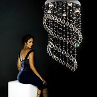 Free shipping  D40cm*H60cm LED Modern Crystal Chandelier Light Fixture Crystal Pendant Ceiling Lamp   sent by DHL or FedEx