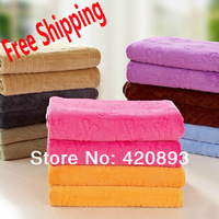 Free Shipping Solid Color Coral Fleece Autumn and Winter Full Size Blanket Air Conditioning Bath Blanket Summer Quilt