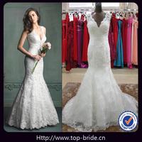 TBA9104 Sexy Lace Latest Mermaid Backless Wedding Dresses