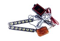 Wireless remote control car strobe light bright 12led lamp net lights red blue white