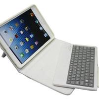 Free shipping Mini slim removable bluetooth keyboard & keyboard case stand for iPad mni plastic + TPU
