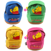 Lovely Cartoon Bear Child Backpacks Boy and Girl Brand Schoolbag Kids School Bags 2014 New Arrival Free Shipping