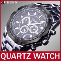 2014 High Quality Fashion Brand Curren Men Quartz Watch For Man Dress Watches Men Full Steel Watch Casual Wristwatch Waterproof