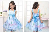 new 2014 summer children dress kids Lovely sweet lace Dress child girl baby dresses for 3-12 old girls