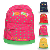 Lovely Heart Printed Boy and Girl Brand Backpacks Kids School Bags Child Schoolbag 2014 New Arrival Free Shipping