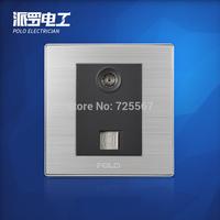 Free Shipping, POLO luxury wall switch panel, Wall Socket Panel, TEL/TV Socket ,110~250V, 86*86mm