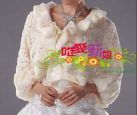 Champagne color fur shawl pj41188 customize