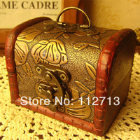 New arrival 2014 retro style  zakka box 8.6*6.5*6.5cm organizer boxes antique box small wood box handmade