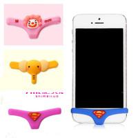 $15 Free shipping Kpop Anime Superman Underwear Button Sticker/Home Keyboard Smart Pants Undies Data Anti Dust Plug For IPhone6
