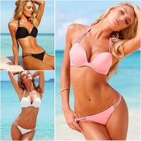 New 2014 For Women Sexy bikini set Swimsuit Design  fashion Women's Beach Low-Rise Waist  Bathing Suit  Red/blue 5 colors