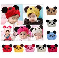 Fashion Cute Baby Kids Girls Boys Stretchy Warm Winter Panda Cap Hat Beanie