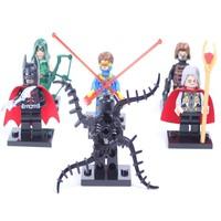 Super hero Avengers Odin Green Arrow Cyclops Action Figures DIY Building Blocks Dolls Bricks Classic Toy Star wars Minifigures