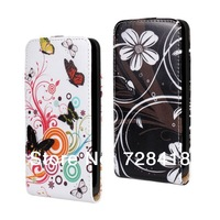 Brand New Flower Painting Flip Cover Korea Style Leather Case For Huawei G520 G525 Free+Drop Shipping