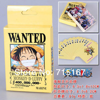 15sets/lot Japanese One Piece Pokers Wanted Collection game cards Anime Figure Poker for gift