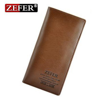 Free Shipping Wholesale Long Men's Wallet Brand Name Genuine Leather Wallet for Men , Gentleman Leather Purses Hot Fashion S41