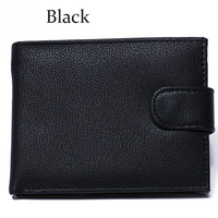 Men's Genuine Leather  Wallet Black New free shipping