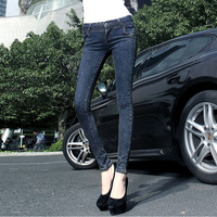 New dark thickened jeans skinny jeans, skinny warmth
